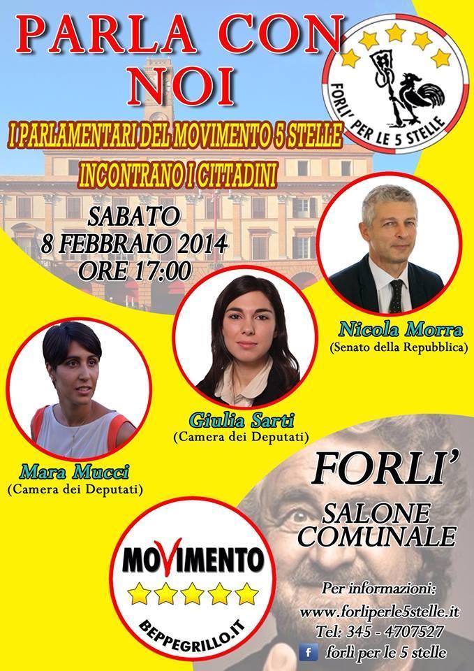 Incontro a Forlì Sabato 8 febbraio 2014