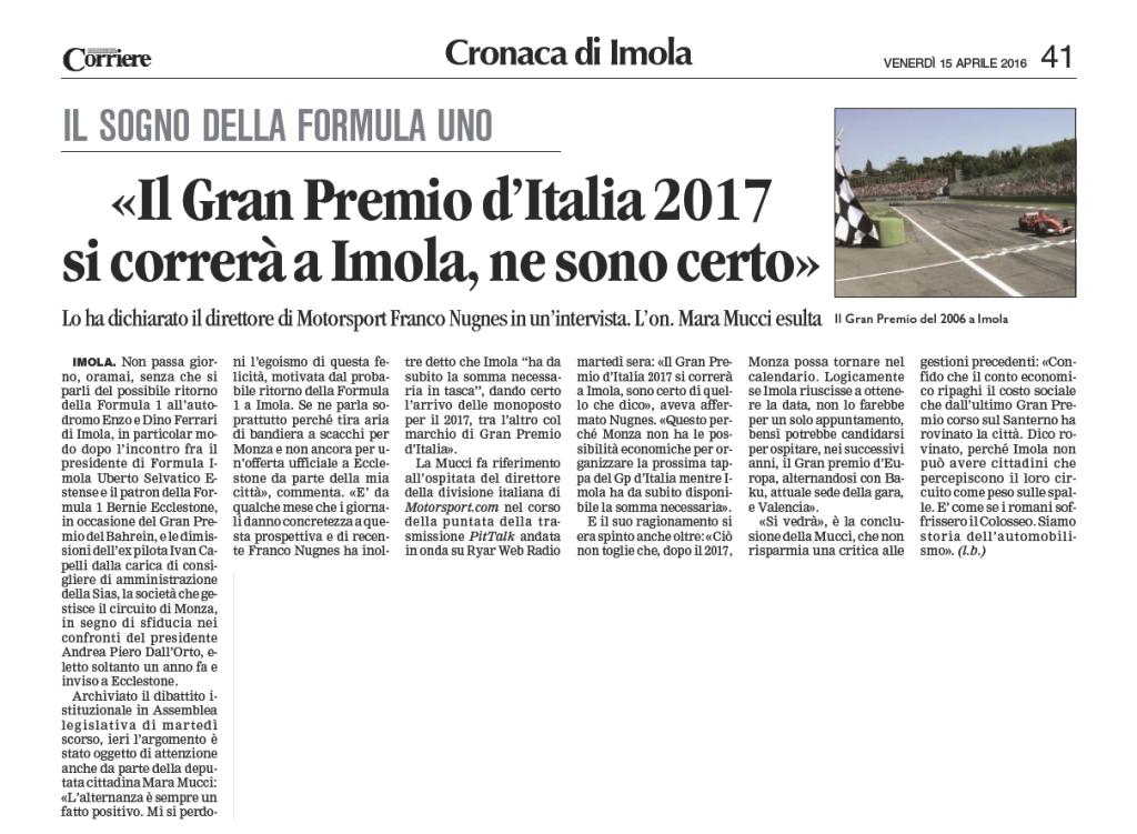 Corriere di Romagna Mara Mucci