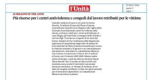 Fondo antiviolenza - Unità