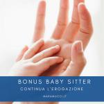 Bonus Baby sitter, continua l'erogazione