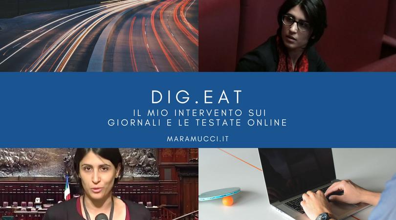 Dig.eat il mio intervento sui giornali e le testate online