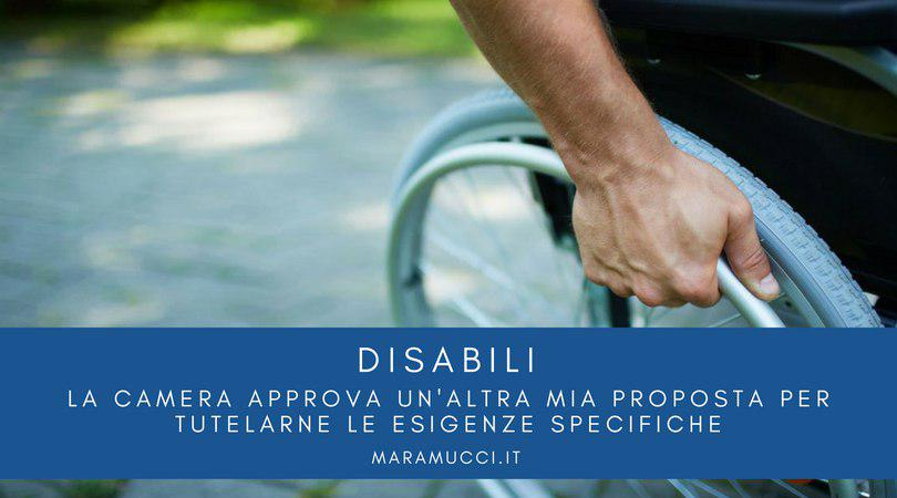 Disabili la camera approva un 39 altra mia proposta per for Atti parlamentari camera