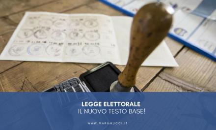 Legge elettorale: il nuovo testo base!