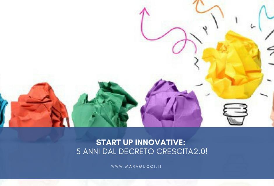 Start up innovative: 5 anni dal decreto Crescita 2.0!