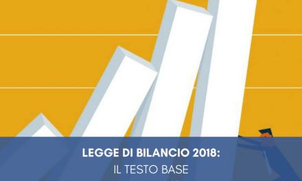 Legge di bilancio  2018: il testo base