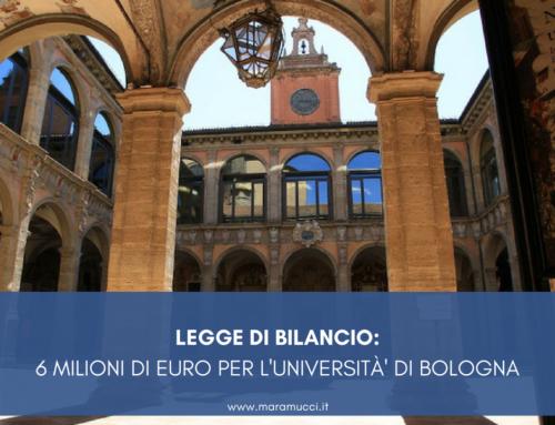 LEGGE DI BILANCIO: 6 MILIONI DI EURO PER L'UNIVERSITA' DI BOLOGNA