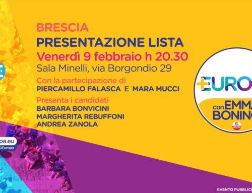 Evento di lancio della campagna elettorale su Brescia